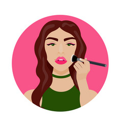 With sexy girl brush vector