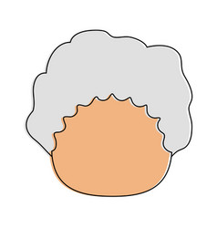 woman old avatar icon image vector image
