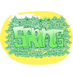 yellow and green spring graffit vector image
