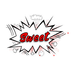comic collection word sweet 3d colored sound chat vector image