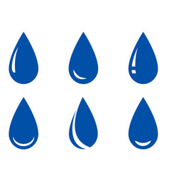 droplet set vector image vector image