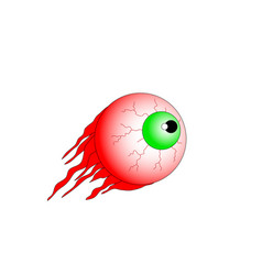 eyes blood isolated on white background for vector image