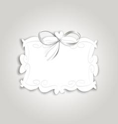 Frame ribbon vector image vector image