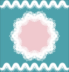 Lacy frame and borders vintage style vector image