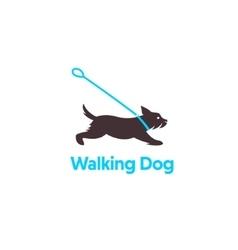 Logo design for dog walking vector image vector image