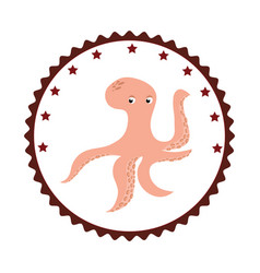 Octopus sea food icon vector
