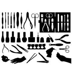 manicure and pedicure elements vector image
