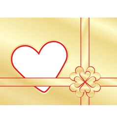 Present wrapper with valentine vector