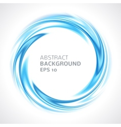 Abstract blue swirl circle bright background vector image