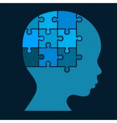 Color Puzzle Human Head Silhouette vector image vector image