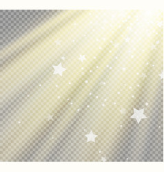 light flare special effect with rays of light and vector image