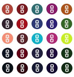 set of link connection buttons - internet website vector image