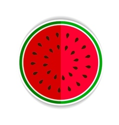 watermelon red green icon fla vector image
