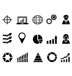 black business infographic icons set vector image vector image