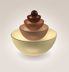Chocolate cups vector image
