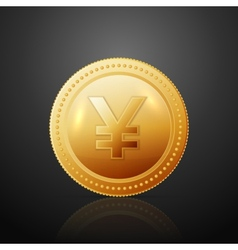 Coin JPY vector image vector image