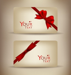 Gift cards collection vector image vector image