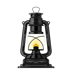 Old kerosene lamp eps10 vector image vector image