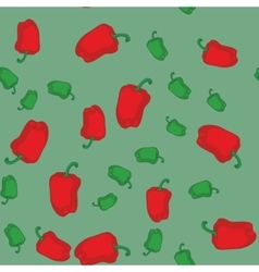 Red and green pepper seamless texture 611 vector image