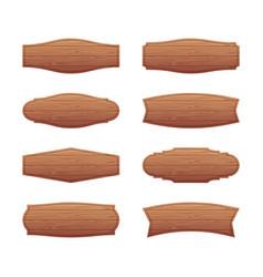 set of wooden signboards vector image vector image