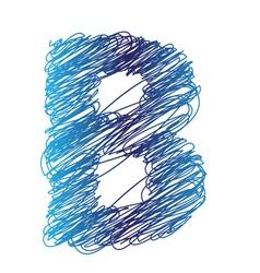 sketched letter B vector image