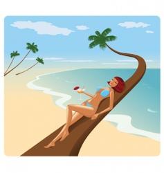 woman in bikini vector image vector image