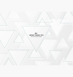 abstract gradient white and gray triangle techno vector image