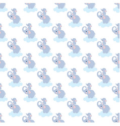 adorable elephant seamless pattern vector image