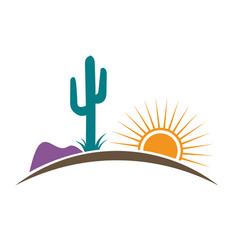 arizona desert vector image