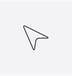 arrow cursor outline icon vector image