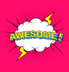 awesome comic cartoon vector image
