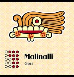 Aztec symbol Malinalli vector image