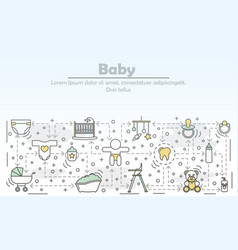 baby concept flat line art vector image