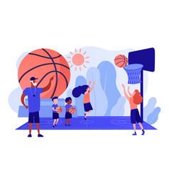 Basketball camp concept vector