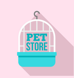 bird cage pet store logo flat style vector image
