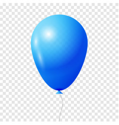 Blue transparent balloon vector