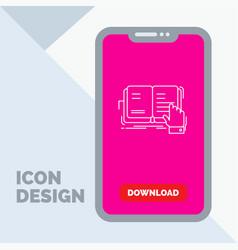 Book lesson study literature reading line icon in vector