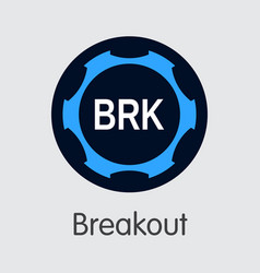 Breakout virtual currency coin symbol of vector