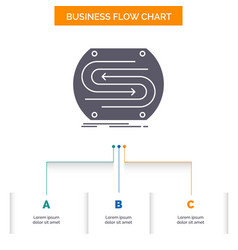 business arrow concept convergence match pitch vector image