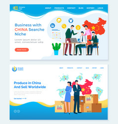Business with china search niche us relations vector