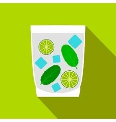Caipirinha cocktail drink icon flat style vector image