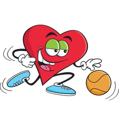 Cartoon Basketball Heart vector