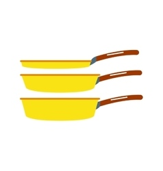 Cartoon cooking pan vector