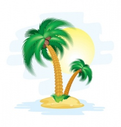 cartoon island vector image