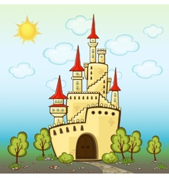Castle in cartoon style vector