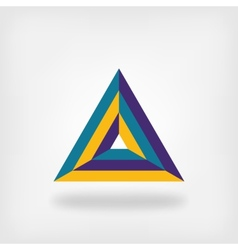 colored triangle logo symbol vector image