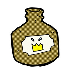 comic cartoon old whiskey bottle vector image vector image