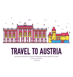 country austria travel vacation of place and vector image