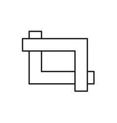 crop icon vector image