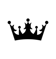Crown icon simple vector